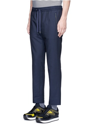 Front View - Click To Enlarge - Dolce & Gabbana - Slim fit drawstring wool-cotton pants