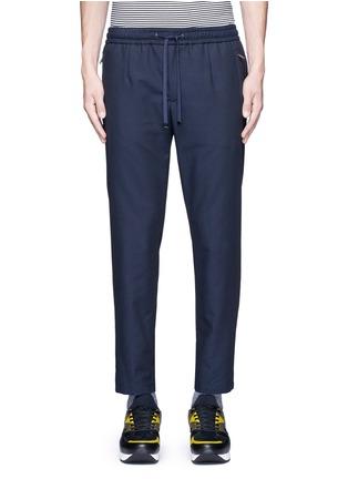 Main View - Click To Enlarge - Dolce & Gabbana - Slim fit drawstring wool-cotton pants