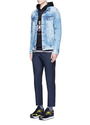 Figure View - Click To Enlarge - Dolce & Gabbana - Slim fit drawstring wool-cotton pants