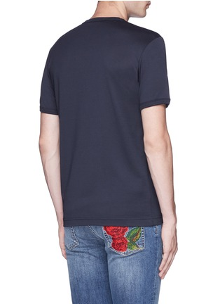 Back View - Click To Enlarge - Dolce & Gabbana - Crown embroidery V-neck T-shirt