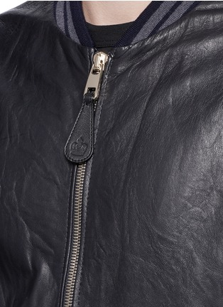 Detail View - Click To Enlarge - Dolce & Gabbana - Leather baseball jacket