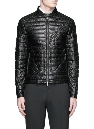 Main View - Click To Enlarge - MONCLER - 'Casteu' quilted down leather jacket
