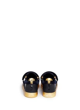 Back View - Click To Enlarge - Giuseppe Zanotti Design - 'London' velvet low top sneakers