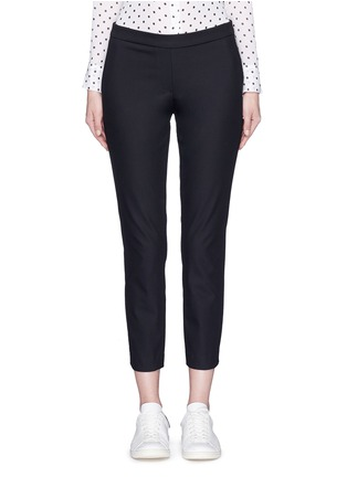 Main View - Click To Enlarge - Theory - 'Thaniel' elastic waist cropped pants