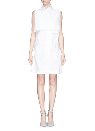 Main View - Click To Enlarge - Ellery - 'Monsoon' bodice overlay poplin shirt dress