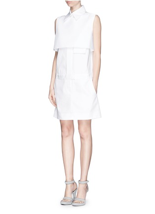 Figure View - Click To Enlarge - Ellery - 'Monsoon' bodice overlay poplin shirt dress