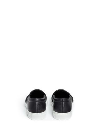 Back View - Click To Enlarge - JOSHUA SANDERS - '23' embossed leather skate slip-ons