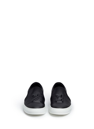 Front View - Click To Enlarge - JOSHUA SANDERS - '23' embossed leather skate slip-ons