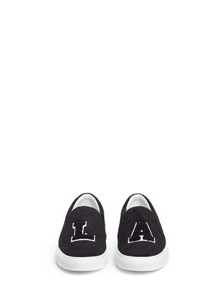 Front View - Click To Enlarge - JOSHUA SANDERS - 'L.A' felt skate slip-ons