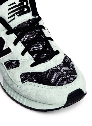 Detail View - Click To Enlarge - New Balance - '530 Summer Utility' stripe print suede mesh sneakers