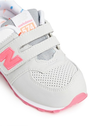 Detail View - Click To Enlarge - New Balance - '574' colourblock suede toddler sneakers
