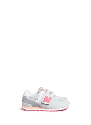 Main View - Click To Enlarge - New Balance - '574' colourblock suede toddler sneakers