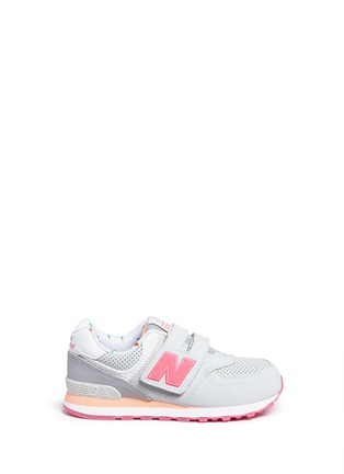 Main View - Click To Enlarge - New Balance - '574' colourblock suede kids sneakers