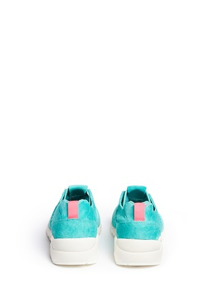 Back View - Click To Enlarge - New Balance - '580' mesh sock suede sneakers