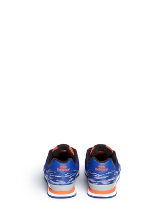 Back View - Click To Enlarge - New Balance - '574' stripe jacquard kids sneakers