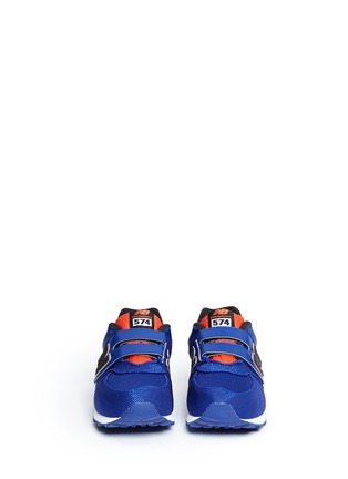 Figure View - Click To Enlarge - NEW BALANCE - '574' stripe jacquard kids sneakers
