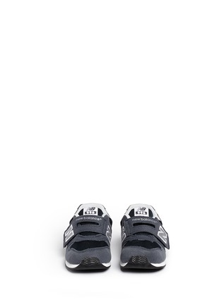 Figure View - Click To Enlarge - New Balance - '996' suede mesh toddler sneakers