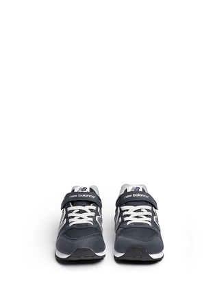 Figure View - Click To Enlarge - New Balance - '996' suede mesh kids sneakers