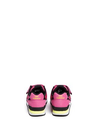 Back View - Click To Enlarge - New Balance - '996' textile strap kids sneakers