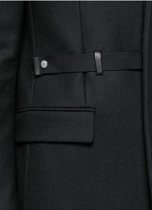 Detail View - Click To Enlarge - Givenchy - Belted wool blend coat
