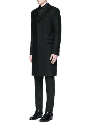 Front View - Click To Enlarge - Givenchy - Belted wool blend coat