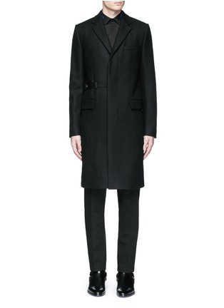 Main View - Click To Enlarge - Givenchy - Belted wool blend coat