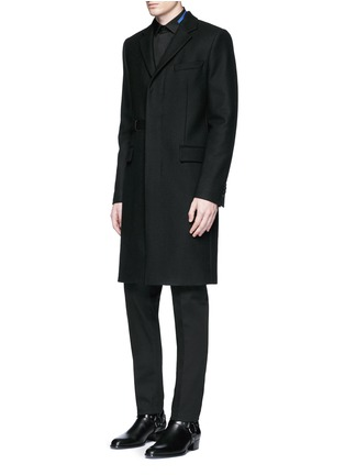 Figure View - Click To Enlarge - Givenchy - Belted wool blend coat