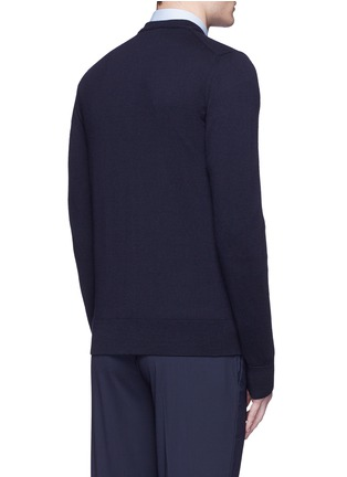 Back View - Click To Enlarge - Dolce & Gabbana - Crown embroidery wool cardigan