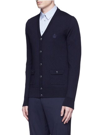 Front View - Click To Enlarge - Dolce & Gabbana - Crown embroidery wool cardigan