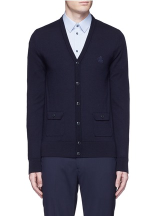 Main View - Click To Enlarge - Dolce & Gabbana - Crown embroidery wool cardigan