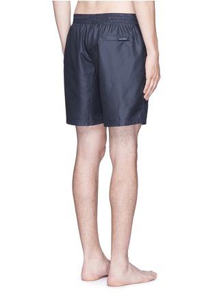 Back View - Click To Enlarge - Dolce & Gabbana - Micro polka dot print swim shorts