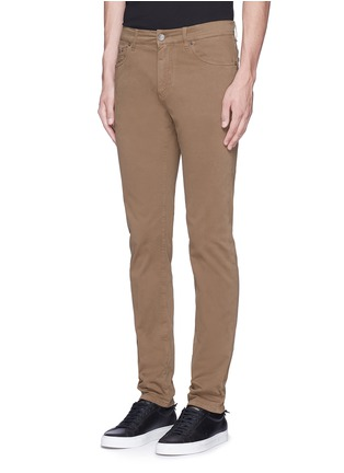 Front View - Click To Enlarge - Dolce & Gabbana - 'Stretch 16' slim fit chinos