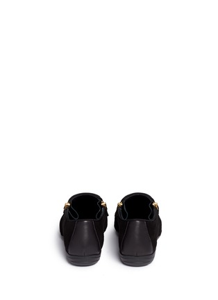 Back View - Click To Enlarge - Giuseppe Zanotti Design - 'Dalila' metal toe Hovercraft sole suede loafers