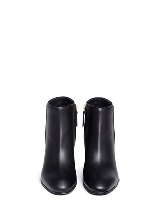 Front View - Click To Enlarge - Giuseppe Zanotti Design - 'Nicky' leather ankle boots