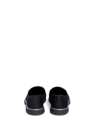 Back View - Click To Enlarge - Giuseppe Zanotti Design - 'Kevin' metal toe cap suede slip-ons