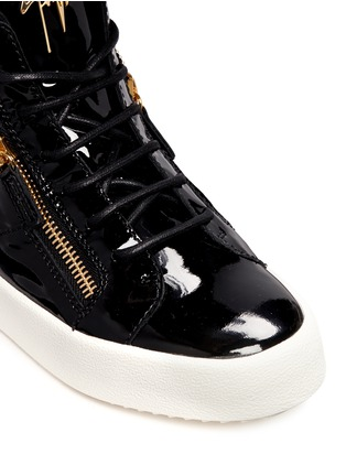 Detail View - Click To Enlarge - Giuseppe Zanotti Design - 'May London' patent leather lace-up high top sneakers