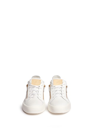 Front View - Click To Enlarge - 73426 - 'May London' leather low top sneakers