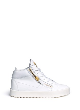 Main View - Click To Enlarge - Giuseppe Zanotti Design - 'May London' zipped patent leather high top sneakers