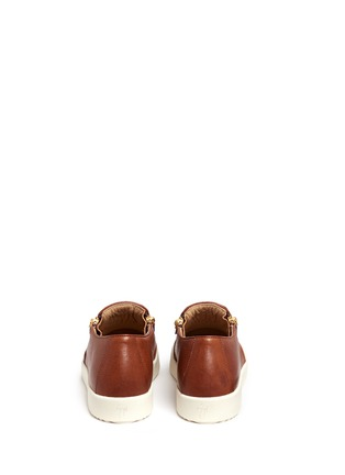Back View - Click To Enlarge - Giuseppe Zanotti Design - 'May London' leather skate slip-ons