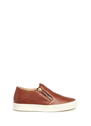 Main View - Click To Enlarge - Giuseppe Zanotti Design - 'May London' leather skate slip-ons