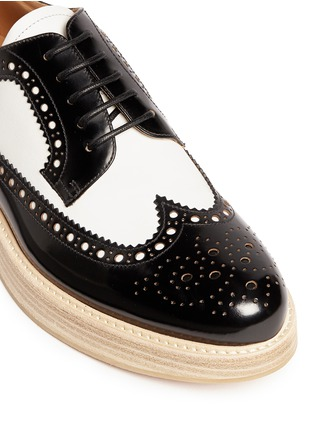 Detail View - Click To Enlarge - CHURCH'S - 'Opal' combo leather spectator brogue derbies