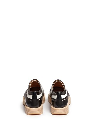 Back View - Click To Enlarge - CHURCH'S - 'Opal' combo leather spectator brogue derbies