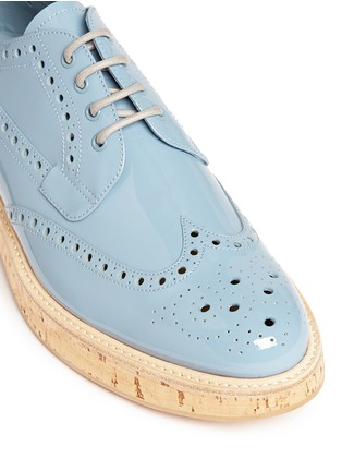Detail View - Click To Enlarge - Church ' S - 'Keely' cork sole patent leather brogue derbies