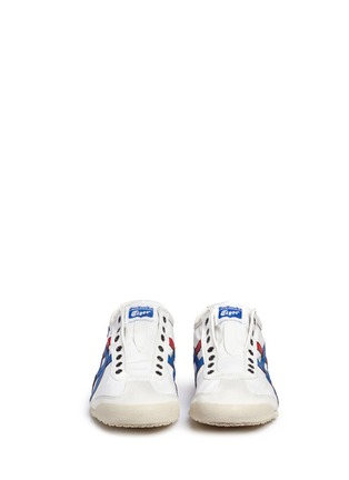 Front View - Click To Enlarge - Onitsuka Tiger - 'Mexico 66' unisex canvas slip-on sneakers