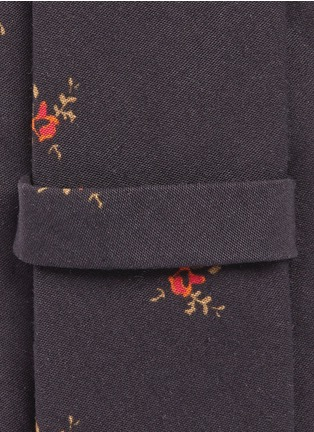Detail View - Click To Enlarge - Givenchy - Floral print cotton tie