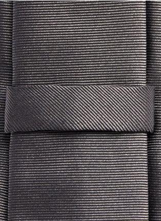 Detail View - Click To Enlarge - Givenchy Beauty - Star stripe embroidery silk tie