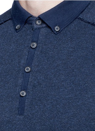 Detail View - Click To Enlarge - Scotch & Soda - 'Home Alone' cotton knit polo shirt