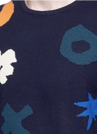 Detail View - Click To Enlarge - Scotch & Soda - Intarsia cotton sweater