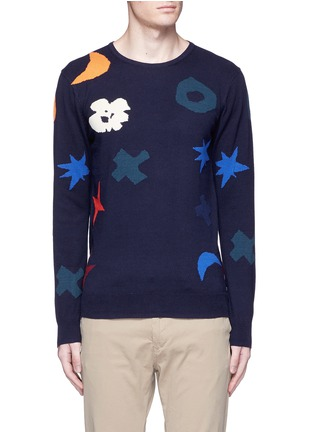 Main View - Click To Enlarge - Scotch & Soda - Intarsia cotton sweater