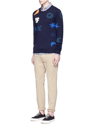 Figure View - Click To Enlarge - Scotch & Soda - Intarsia cotton sweater
